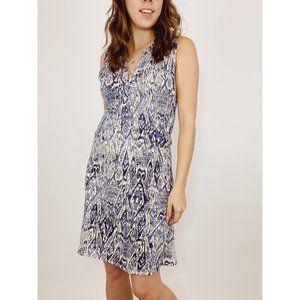 Lucky Brand Blue Ikat Haze Dress Sleeveless